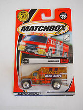 2001 MATCHBOX #26 ULTRA MED ALERT AMBULANCE WHEEL VARATION