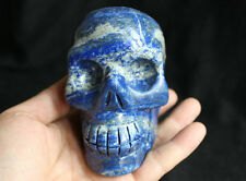 2.3LB Natural Lapis Lazuli & Pyrite Crystal Skull Carved Healing Brazil