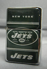 NEW YORK JETS CLASSIC LOGO REFILLABLE SILVER FLIP TOP OIL LIGHTER