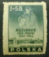 POLAND-STAMPS MNH Fi403 ScB45 Mi436 - Concetration camp Maydanek,1946, clean