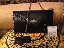 VINTAGE KARL LAGERFELD BLACK GOLD BALL BEADS SHOULDER HANDBAG BAG CLUTCH $3500.