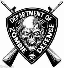 DEPARTMENT OF DEFENSE ZOMBIE HELMET TOOLBOX CAR BUMPER STICKER DECAL MADE IN USA