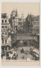London postcard - St Pauls Cathedral and Ludgate Hill - LL No. 262