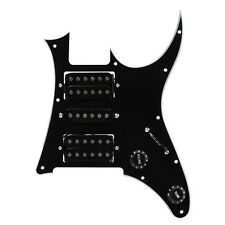 NEW Guitar Loaded Pickguard HSH Pickguard Fits 7V RG Style Guitar 3Ply Black