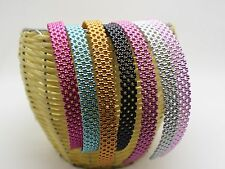 8 Mixed Color Pearly Luster Plastic Alice Hair Band Headband 15mm Hair Accessory
