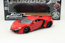 Lykan hypersport de la película Fast and Furious 7 2015 rojo 1:18 jada Toys