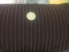 65 Metres Roll PINSTRIPE poly Suiting Brown Fabric Gangster Fancy Dress JOBLOT