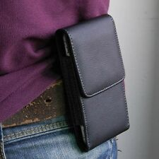 Black PU Leather Pouch Bag Case Cover Clip Belt For iPhone 5 5S 5C