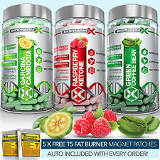 RASPBERRY KETONE + GREEN COFFEE BEAN EXTRACT + GARCINIA CAMBOGIA DIET PILLS