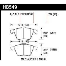 Hawk Perf. HB549N.702 HP Plus Front Disc Brake Pad Fits 06-10 Mazda 6 Mazdaspeed