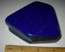 "3"" BEAUTIFUL HAND POLISHED NATURAL LAPIS STONE MINERAL AFGHANISTAN 346.5grams"