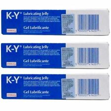 THREE PACKS of K-Y Gel Lubricating Sterile Jelly 82g