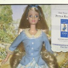 Peter Rabbit Barbie doll NRFB mint 100 anniversary Peter Rabbit Blue dress