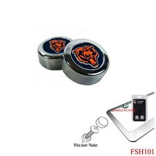 Brand New NFL Chicago Bears Chrome License Plate Frame Screw Caps