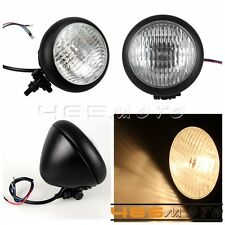 Motocycle Head Light Vision Lamps For Softail Custom Chopper Bobber Black