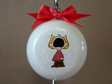 """VERY Unique Handmade Peanuts """"Sally"""" 3"""" Glass Ball Ornament~Made In The USA, NEW"""