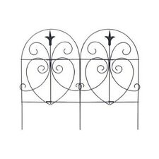 "Panacea 18"" x 8', Black, Romantic Style, Folding Garden Fence 89379"