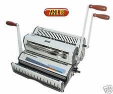 """Akiles Wiremac Duo Wire Binding Machine & Punch for 2:1 & 3:1 spines 14"""" ( New )"""