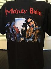 Crazy Rare Motley Crue Brue Beer Promo Shirt Sz XL Glam Rock Sex Party Metal