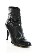 JILL STUART Black Leather Round Toe Ankle Giselle Booties Sz 38 8 IN BOX