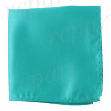 New men's polyester solid teal hankie pocket square formal wedding party prom