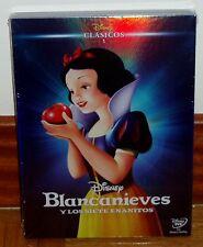 BLANCANIEVES Y LOS SIETE ENANITOS-DVD-CLASICO DISNEY Nº 1-NUEVO-FUNDA DE CARTON