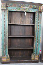 "91"" T Bookcase Spectacular Antique Carved Frame Blue SLC UT Furniture Sale Event"