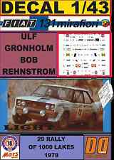 DECAL 1/43 FIAT 131 ABARTH ULF GRONHOLM 1000 LAKES 1979 (LIGHT) (02)