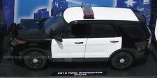 Motormax 1/18 Ford PI Utility Police SUV Blank B&W w/ Lightbar   CASE OF FOUR!