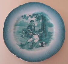 ANTIQUE FRENCH PORCELAIN PLATE LIMOGES - CHILDREN PLAYING