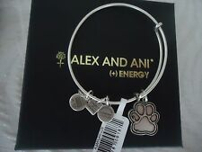 Alex and Ani PRINTS OF LOVE Russian Silver Finish Bangle New W/ Tag Card &  Box