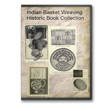 Indian Basket Weaving Historic Basketry Collection Instructions 10 Books CD B499