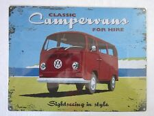 Campervans for Hire Metal Sign