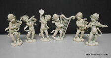 Vintage Plastic / Rubber Cherub Musicians Made in Italy