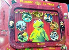 "Muppet Show 25 Years Classic Full Size 22"" Metal TV Tray w/ Legs Kermit the Frog"
