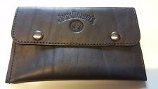 SOFT NAPPA LEATHER - JACK DANIELS Tobacco pouch - BLACK(a) - Brand New.