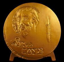 Médaille à Saint Mandé et la ville sc Querolle citation de  Paul Giannoli medal