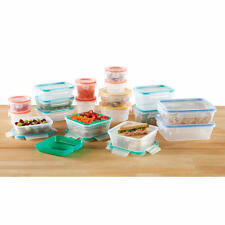 Snapware Total Solution 38 Pieces Plastic Food Storage Set - Airtight Leakproof