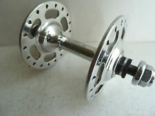 vintage Campagnolo Super Record track front hub, 36 hole slotted, titanium axle
