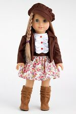 Urban Explorer - Clothes for 18 Doll, Motorcycle Jacket Dress Paperboy Hat Boots