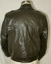 Vintage Nates Leather Chicago Police Motorcycle Leather Jacket 44