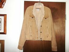 BILLABONG Jacket Sherpa Western Ranch Denim Jean Winter Coat Vtg Surf Ladies M L