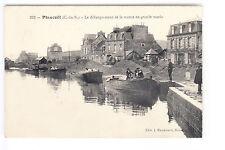 CPA  PLANCOET 22 -  DEBARQUEMENT DE LA MARNE GRANDE MAREE BATEAU BOAT 1910 ~B28