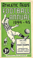 ATHLETIC NEWS FOOTBALL ANNUAL 1944 - 1945, RARE WARTIME ISSUE