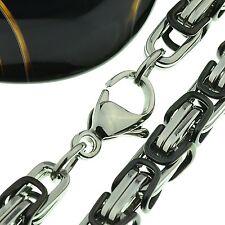 Königskette Halskette Edelstahl 58 cm lang Karabienerverschluß C16008