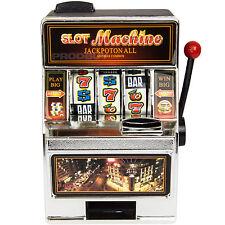 18cm Novelty Slot Machine Money Box Working One Arm Bandit Casino Gambling