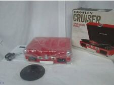 Crosley CR8005A-RE Cruiser Turntable - RED VINYL portable record player NEW
