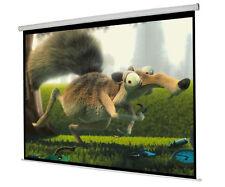"60"" 16:9 Electric Motorised Cinema Matt Grey HD Projector Screen with Remote"
