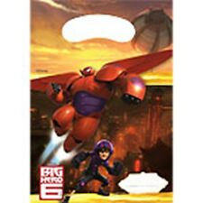 Big Hero 6 Birthday Party - 6 Plastic Loot Bags   - Free Post in UK