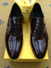 New John Lobb Mens Red Burgundy Leather Lace Up Shoes UK 8.5 US 9.5 42+ Calisto